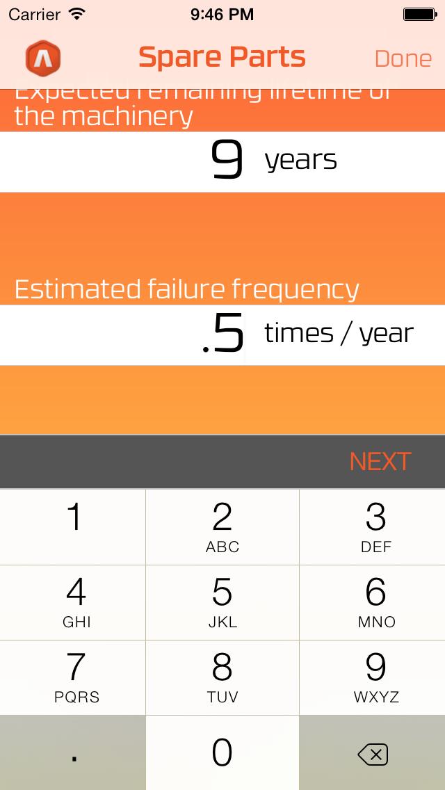 Spare Parts Calculator